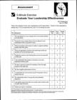 Leadership Effectiveness Worksheet