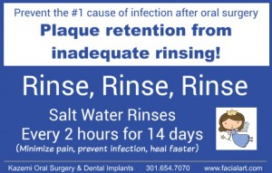 salt water rinse after oral surgery extractions dental implant